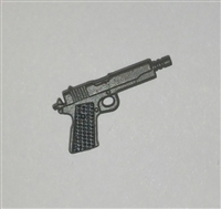 M1911a1 45 Caliber Automatic Pistol  GUN-METAL Version - 1:18 Scale Weapon for 3-3/4 Inch Action Figures