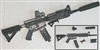 "M4 Carbine Assault Rifle ""Geared Up"" BLACK & GUN-METAL - ""Modular"" 1:18 Scale Weapon for 3-3/4 Inch Action Figures"