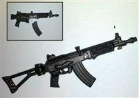 GALIL Assault Rifle with WORKING Stock GUN-METAL Version - 1:18 Scale Weapon for 3-3/4 Inch Action Figures