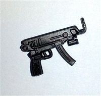 SKORPION Machine Pistol with Mag GUN-METAL Version - 1:18 Scale Weapon for 3-3/4 Inch Action Figures