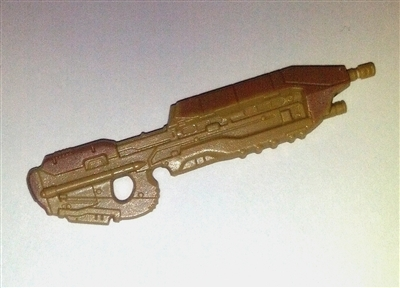 SPACE COMMAND Assault Rifle TAN w/ BROWN Version - 1:18 Scale Weapon for 3-3/4 Inch Action Figures