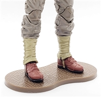 Marauder CDP Action Figure Stand (1) - BROWN with BRICK TEXTURE