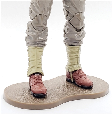 Marauder CDP Action Figure Stand (1) - BROWN with DIRT TEXTURE