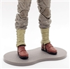 Marauder CDP Action Figure Stands Set of TEN (10) - GRAY with DIRT TEXTURE