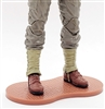 Marauder CDP Action Figure Stand (1) - DARK RED with BRICK TEXTURE