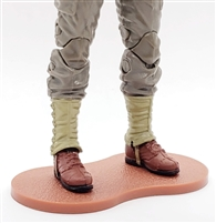 Marauder CDP Action Figure Stand (1) - DARK RED with DIRT TEXTURE