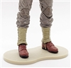 Marauder CDP Action Figure Stands Set of TEN (10) - TAN with DIRT TEXTURE