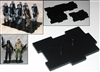 Marauder I.D.S. Action Figure Stands BLACK (10)- Set of 10 (TEN)