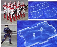 Marauder I.D.S. Action Figure Stands CLEAR (10)- Set of 10 (TEN)