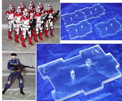 Marauder I.D.S. Action Figure Stands CLEAR (100)- Set of 100 (HUNDRED)