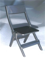 Folding Chair - Gray Color - 1:18 Scale Accessory for 3 3/4 Inch Action Figures
