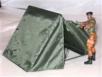 Nylon TENT with Frame & Flaps - 1:18 Scale Accessory for 3 3/4 Inch Action Figures