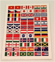 Marauder Task Force Flags of the World Die-Cut Sticker Sheet - 1:18 Scale Accessories for 3 3/4 Inch Action Figures