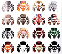 Marauder Task Force Armor Mask Designs - Die-Cut Sticker Sheet - 1:18 Scale Accessories for 3 3/4 Inch Action Figures