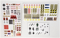 Marauder Task Force: EXO-SUIT Die-Cut Sticker Sheets - 1:18 Scale Accessories for 3 3/4 Inch Action Figures