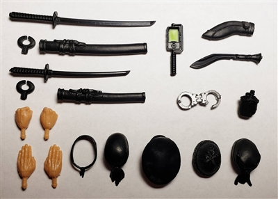 "MTF  Weapon & Accessory DELUXE Set - 1:18 Scale Weapon Set for 3-3/4"" Action Figures"