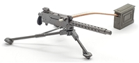 US M1919A4 30 Cal Machine Gun with Tripod & Ammo Belt Rifle with Bipod - 1:18 Scale Weapon for 3-3/4 Inch Action Figures