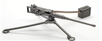 "US ""Ma Deuce"" M2 50 Cal Heavy Machine Gun with Tripod & Ammo Belt Rifle with Bipod - 1:18 Scale Weapon for 3-3/4 Inch Action Figures"