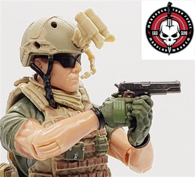 US M1911 45 Automatic Pistol - 1:18 Scale Weapon for 3-3/4 Inch Action Figures