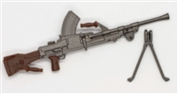 British BREN Machine Gun with Bipod - 1:18 Scale Weapon for 3-3/4 Inch Action Figures