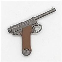 Japanese Nambu Type 14 Automatic Pistol - 1:18 Scale Weapon for 3-3/4 Inch Action Figures