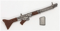 German FG-42 Machine Gun with Ammo Mag - 1:18 Scale Weapon for 3-3/4 Inch Action Figures