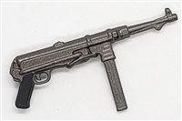"German MP-40 ""Schmieser"" Sub-Machine Gun - 1:18 Scale Weapon for 3-3/4 Inch Action Figures"