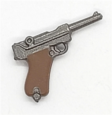 German P08 Luger 9mm Automatic Pistol - 1:18 Scale Weapon for 3-3/4 Inch Action Figures