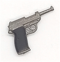 German P38 Walther 9mm Automatic Pistol - 1:18 Scale Weapon for 3-3/4 Inch Action Figures
